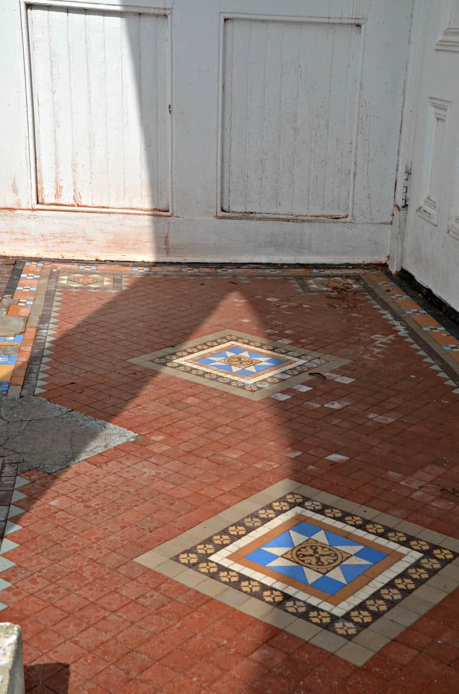 Hadley Hall tile moiac Willard Asylum