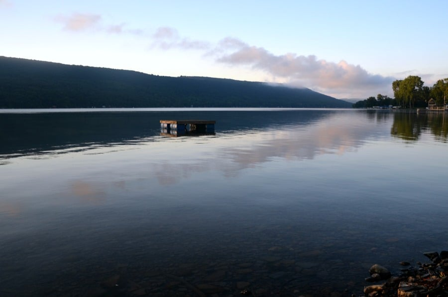 Morning view of Keuka Lake from Branchport, NY