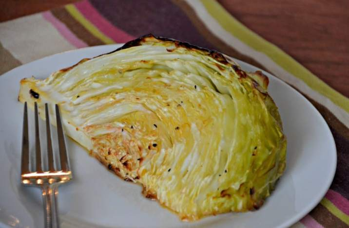 Roasted Cabbage Wedges are a simple, healthy and frugal side dish.