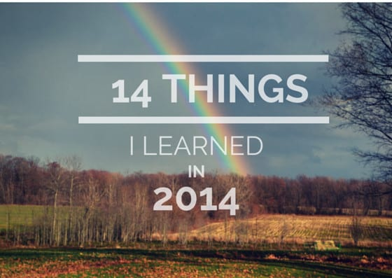 14 things I learned in 2014
