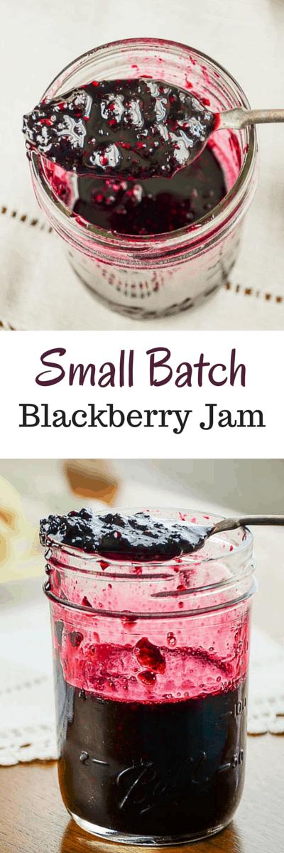 Small Batch Blackberry Jam. makes approximately 2 pint jars of jam without pectin.