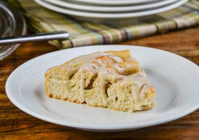Spiral Apple Bread with Cinnamon Glaze