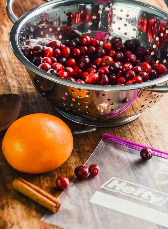 Host a stress-free Thanksgiving by starting your prep ahead of time, tips on getting it all done and a recipe for Spiced Orange Cranberry Sauce