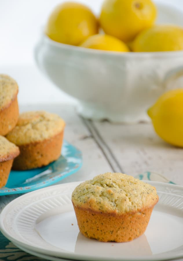 Perfectly flavored, these zesty lemon flavored muffins are perfectly complemented with the crunch of poppy seeds.