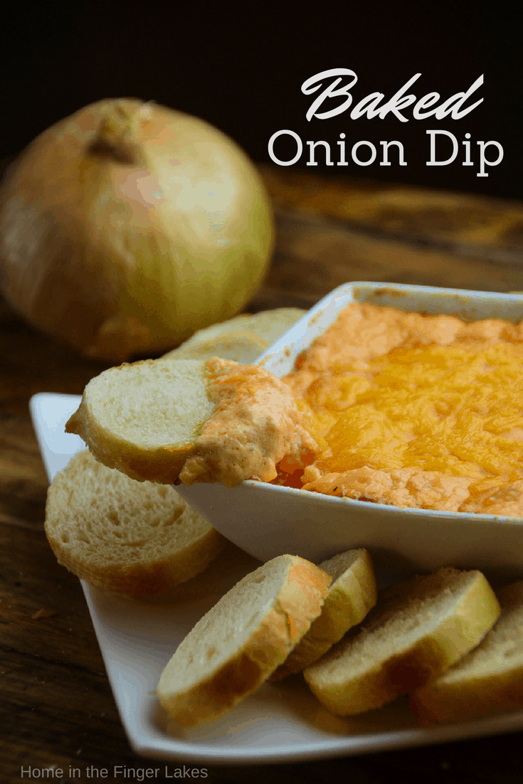 Creamy Baked Onion Dip this creamy cheesy, oniony dip is full of flavor and will be a hit at your next gathering.
