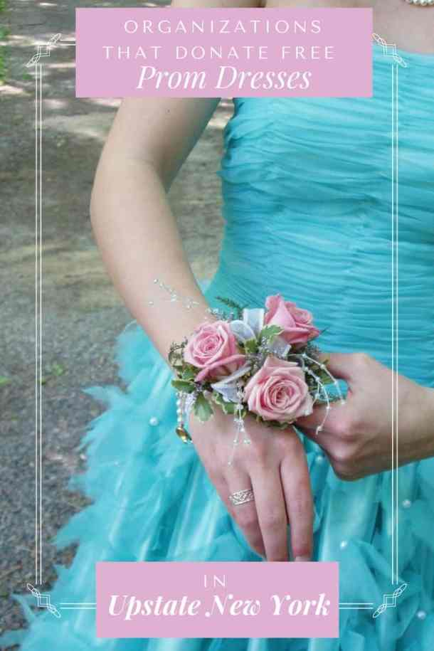 63cfe75faa43 Girl in Teal Prom Dress Adjusting Corsage with Text reading