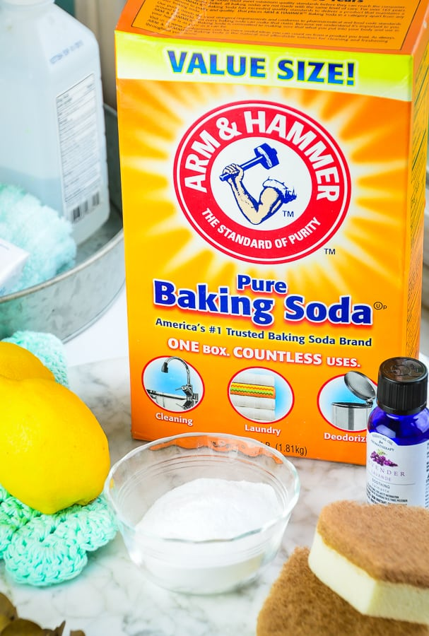 Baking Soda makes an effective Homemade Natural Cleaning Scouring Paste and Deodorizer