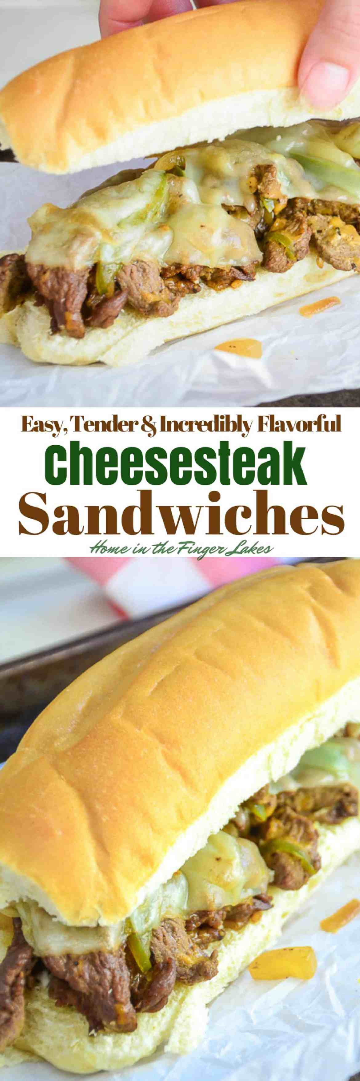 TheseInsanely Delicious (and Quick!) Cheesesteak Sandwiches are the answer to a busy evening when you are exhausted and everyone is hungry.