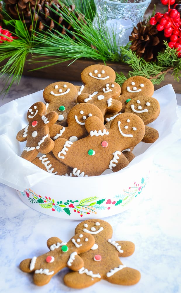 Soft and Chewy Gingerbread Cut-Out Cookies