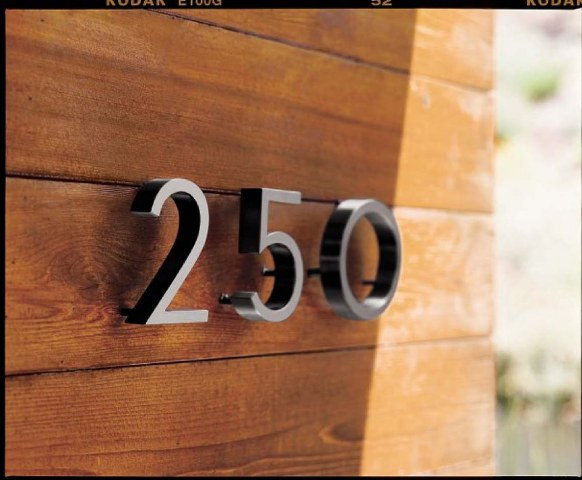 High CostLow Cost Cool Modern House Numbers That Rock