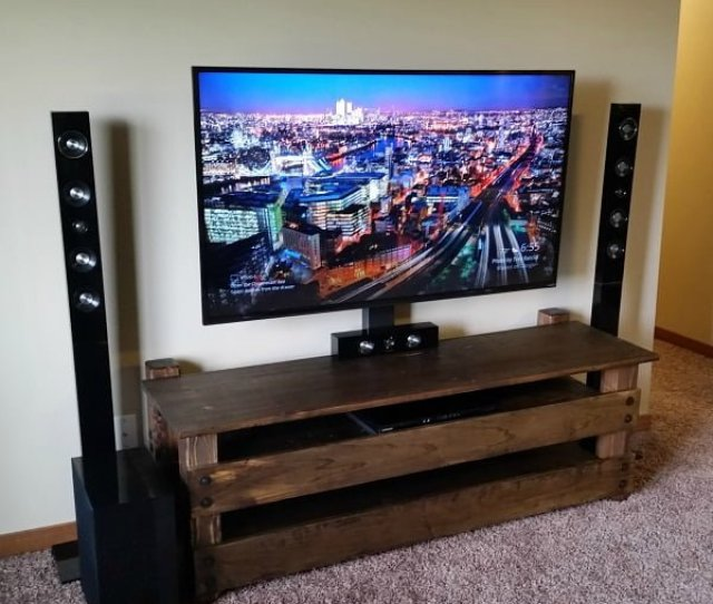 How To Make A Diy Rustic Tv Stand Looks Simple And Great