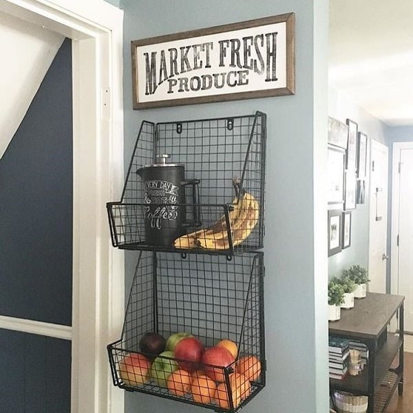20 Unique Kitchen Wall Art Ideas Your Space Needs Fresh produce shelves kitchen wall art  homedecor