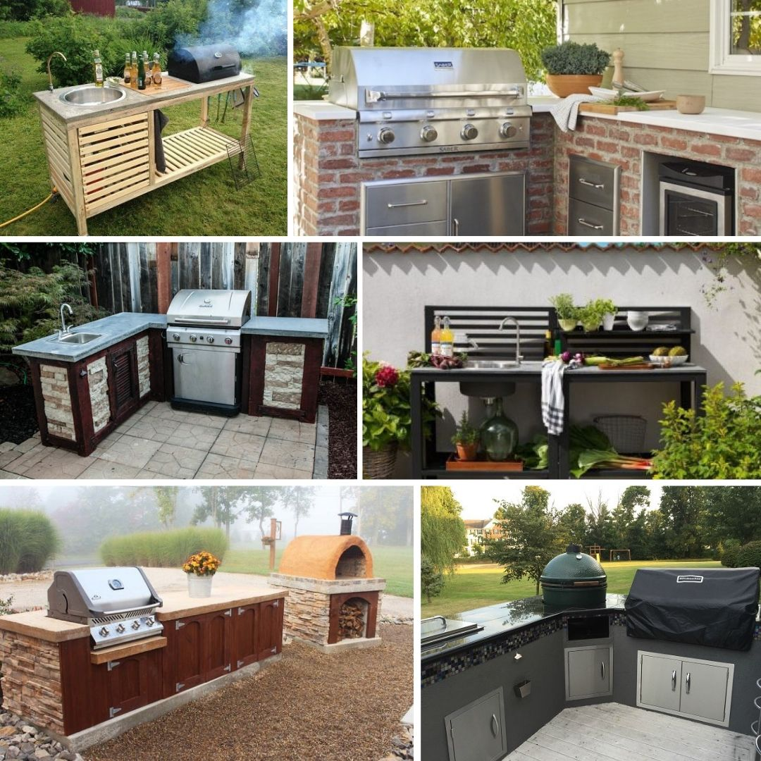 diy outdoor kitchen ideas you can build