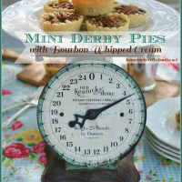 Mini Derby Pies with Bourbon Whipped Cream