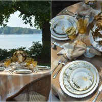 A Golden Autumn Tablescape with Pumpkins