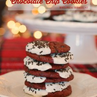 Shortcut Red Velvet-Chocolate Chip Cookies