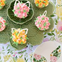 Blooming Bunny Ear Cupcakes