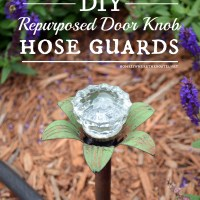 Fun and Functional Garden DIY: Blooming Door Knob Hose Guards