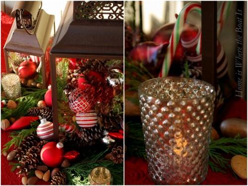 Santa Plaid & Pine Cone table1
