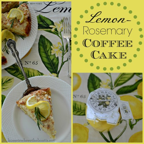 Lemon Rosemary Coffee Cake