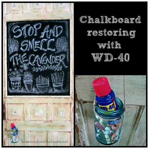 Chalkboard Restoring with WD-40