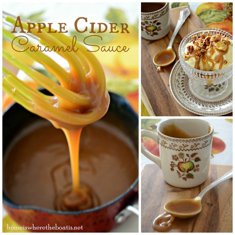 Apple Cider Caramel Sauce | ©homeiswheretheboatis.net #easy #apple #recipes