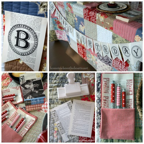 Birthday Book Page Banner