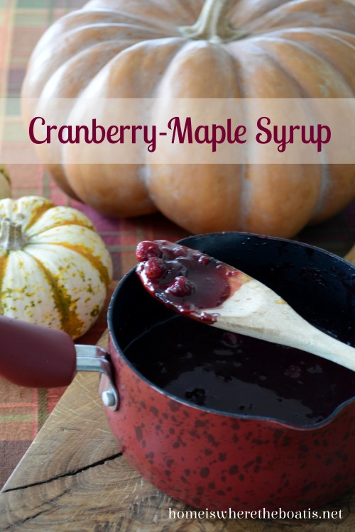 Cranberry Maple Syrup