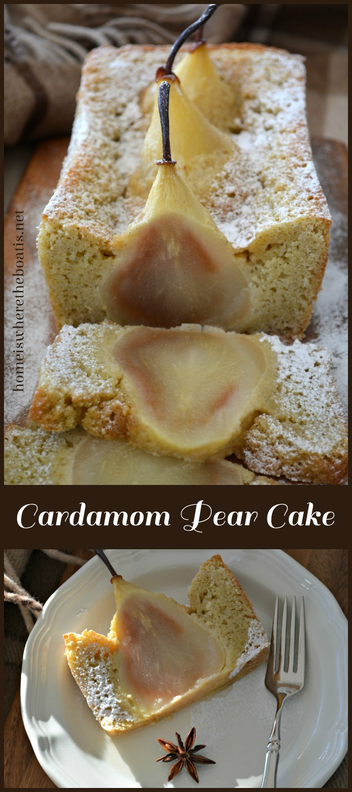Cardamom Cake with Whole Pears