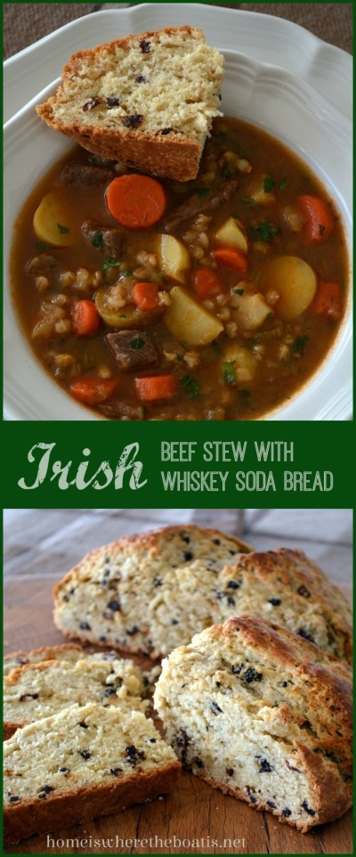 Irish Beef Stew with Irish Whiskey Soda Bread