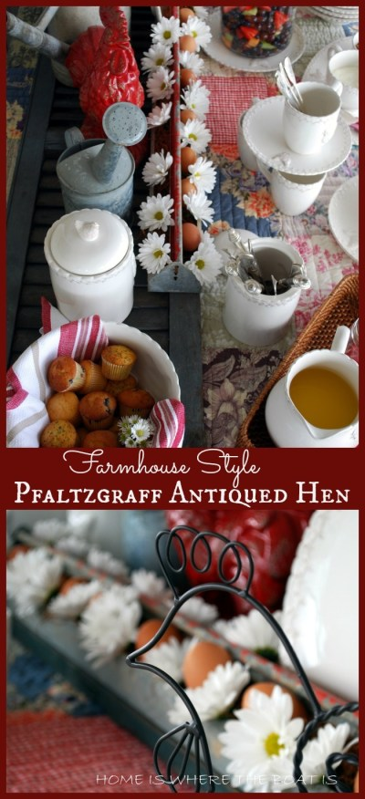 Farmhouse Style with Pfaltzgraff Antiqued Hen