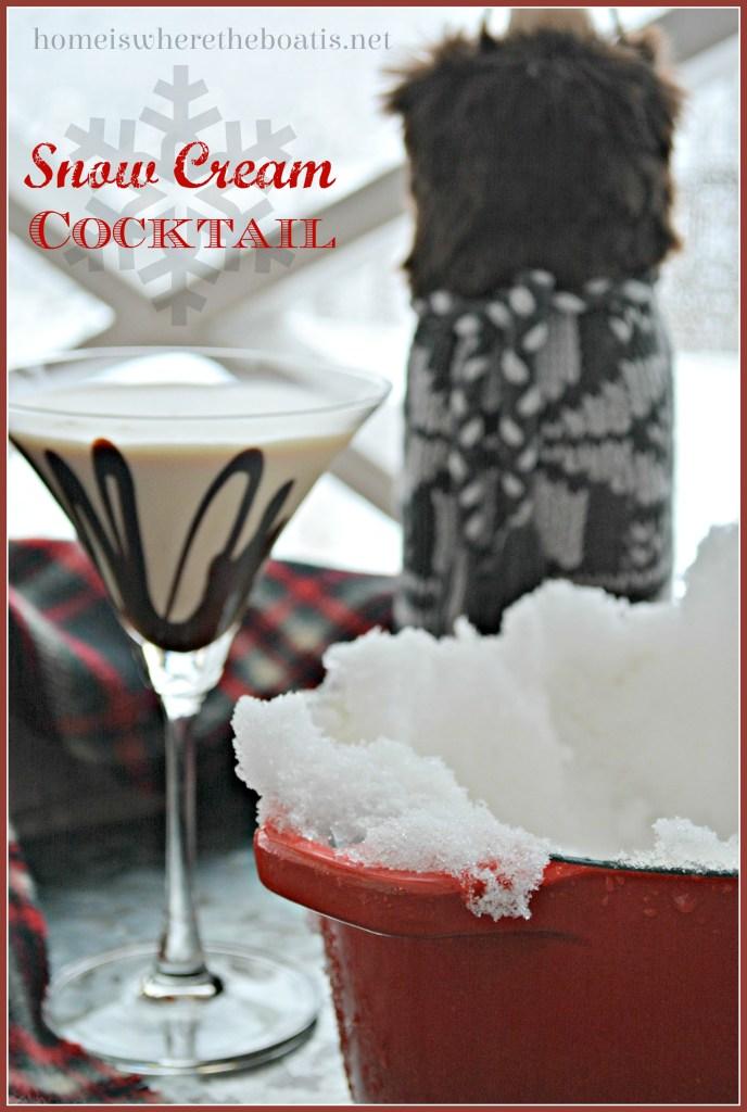 Snow Cream Cocktail