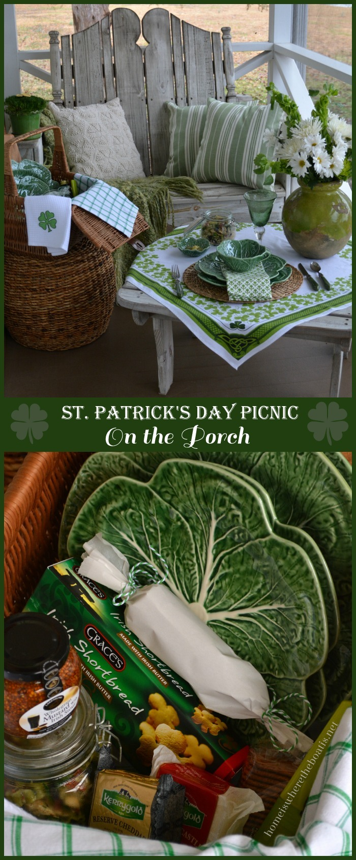 St. Patrick's Day Picnic on the Porch