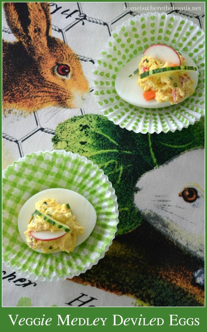 Veggie Medley Deviled Eggs