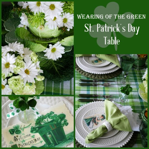 Wearing of the Green St. Patrick's Day Table