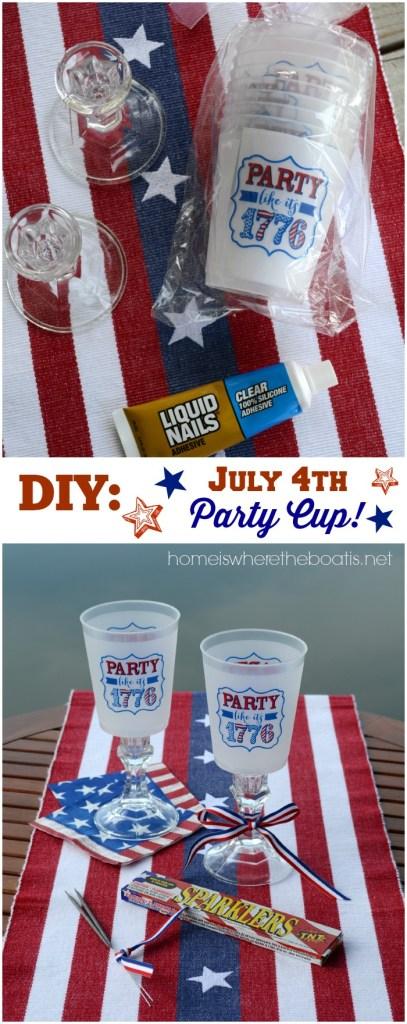 DIY July 4th Party Cup