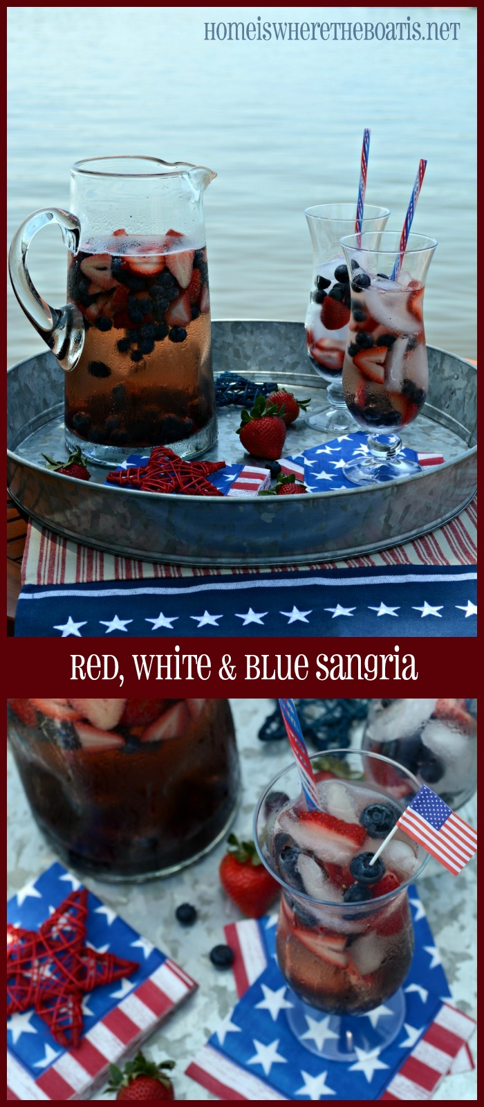 Red, White & Blue Sangria