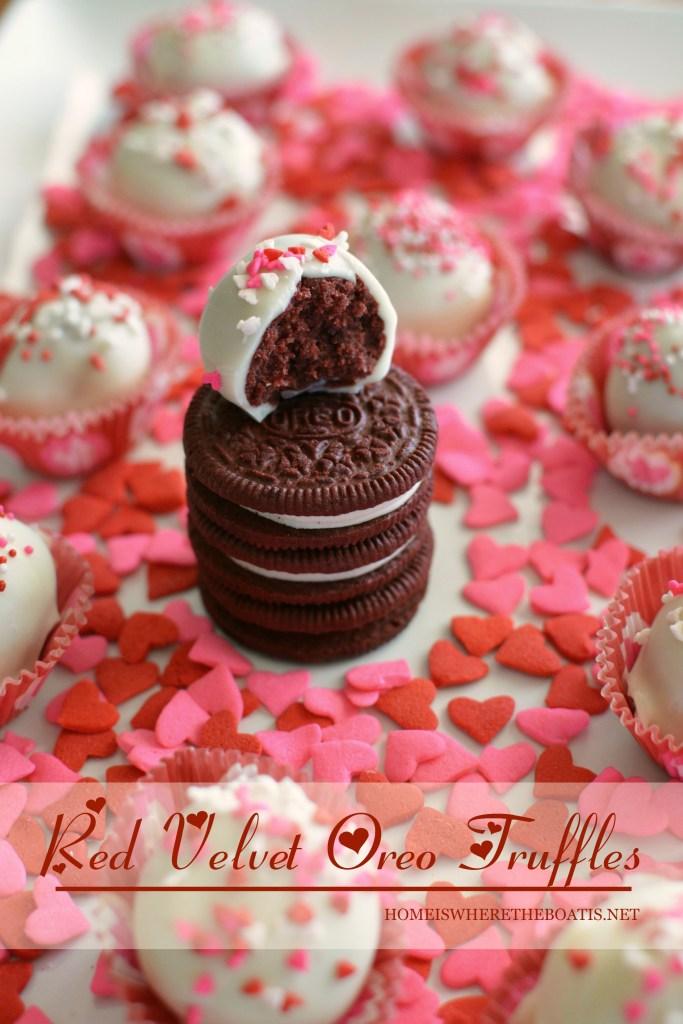 Red Velvet Oreo Truffles