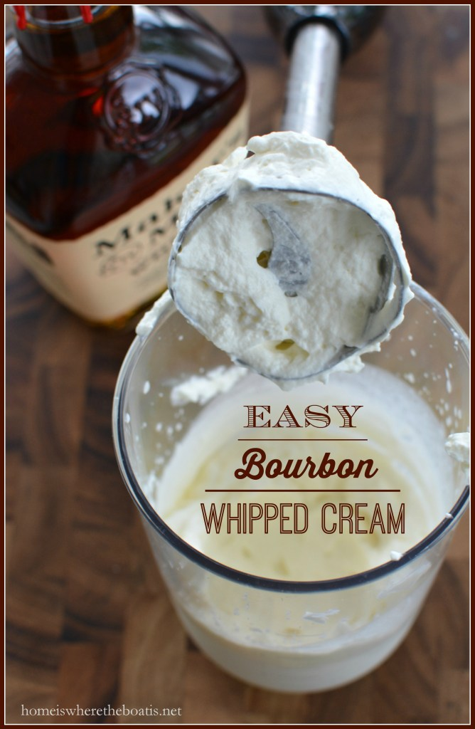 easy bourbon whipped cream