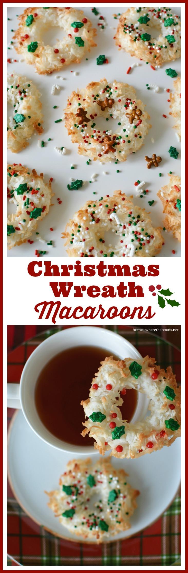 Christmas Wreath Macaroons
