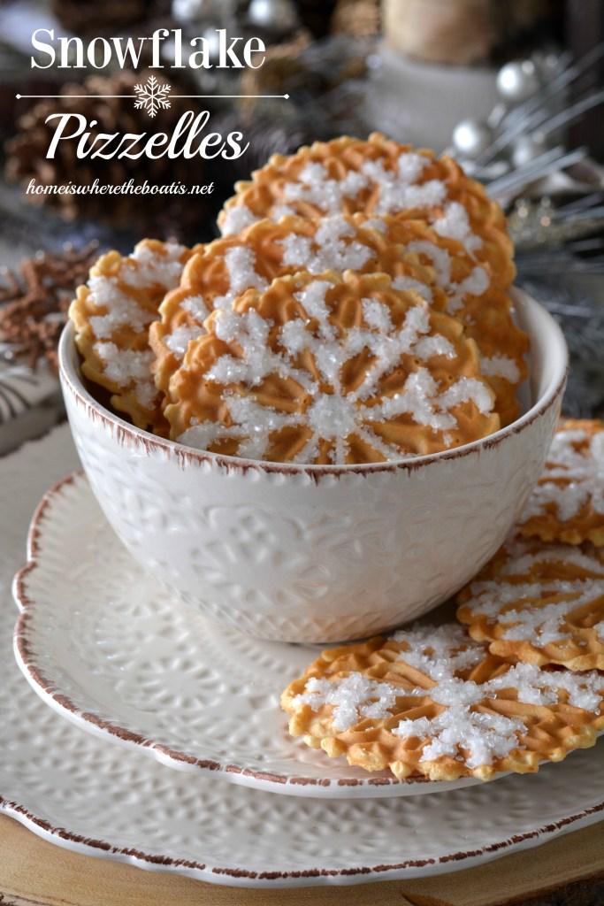 Snowflake Pizzelles