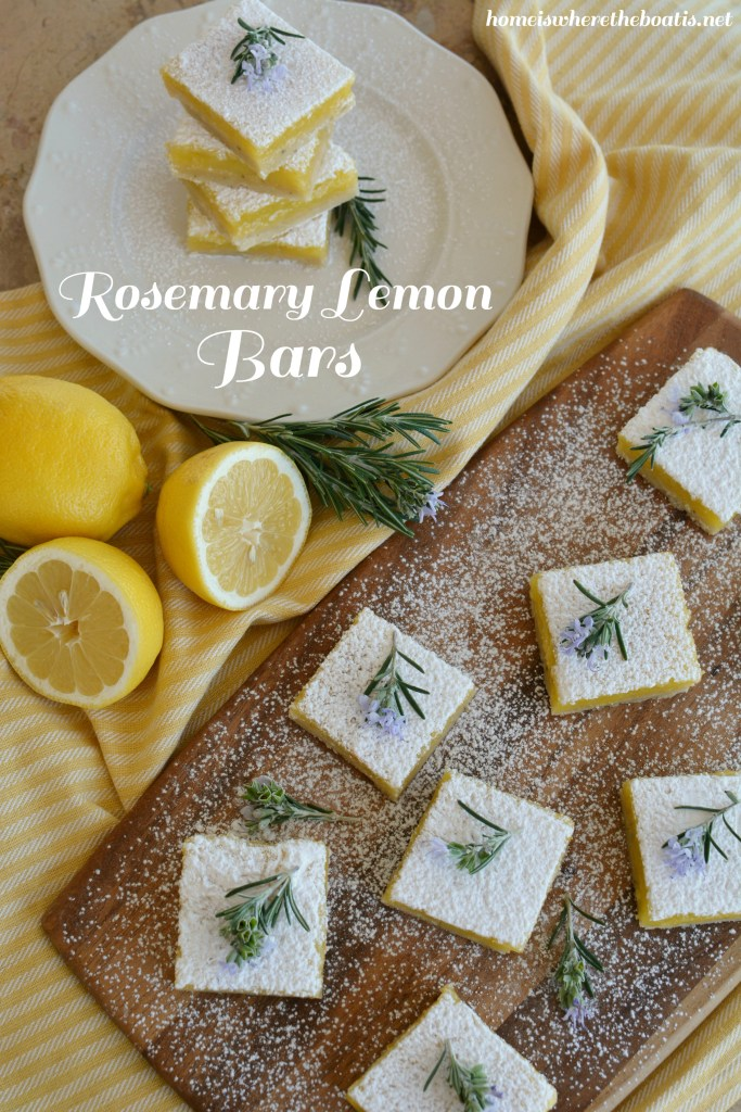 Rosemary Lemon Bars