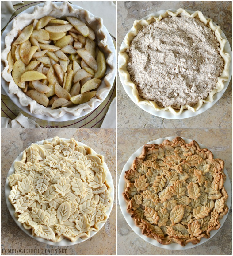Apple Pie with Crumb Topping and Pie Crust Leaves-004