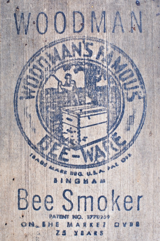 Vintage Woodman's Famous Bee-Ware Smoker | ©homeiswheretheboatis.net #bees