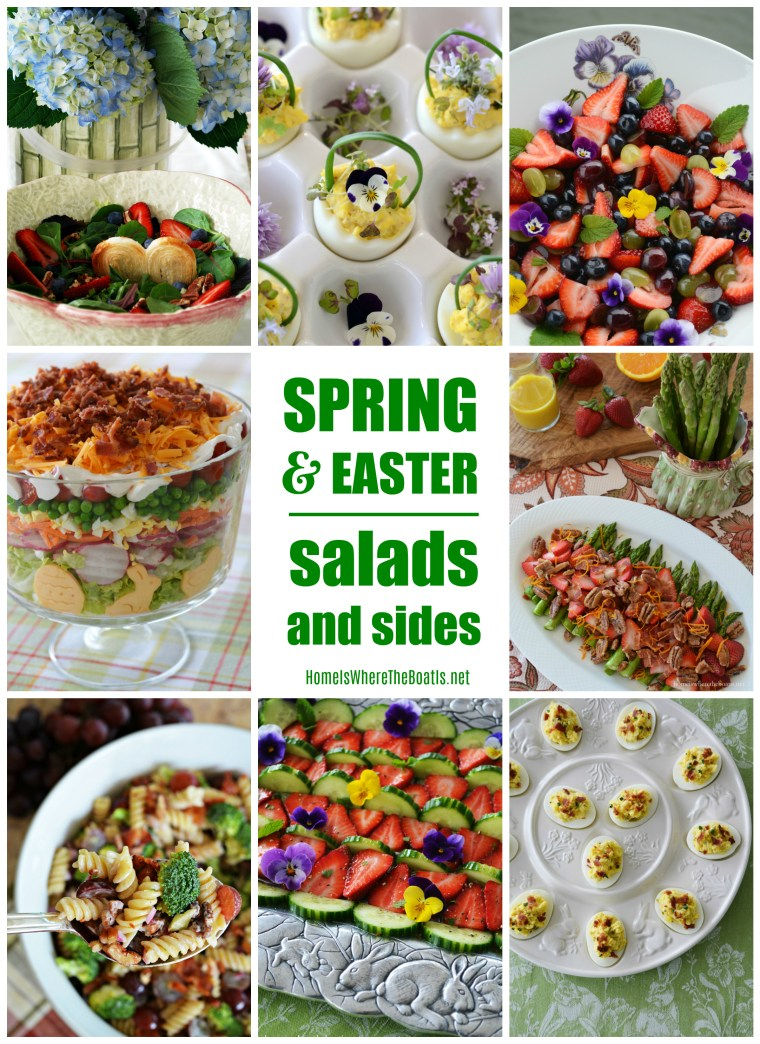 Spring and Easter Sides and Salad Recipes | ©homeiswheretheboatis.net #sides #salads #recipes