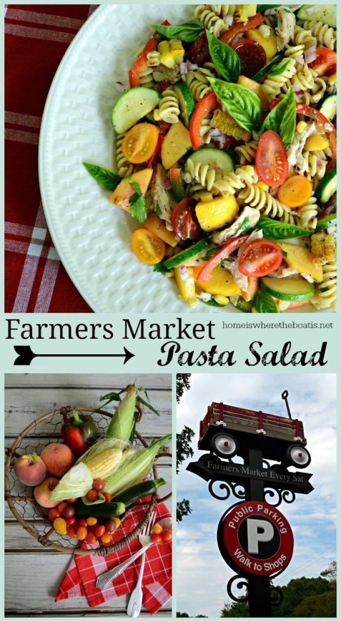 Farmers Market Pasta Salad | ©homeiswheretheboatis.net
