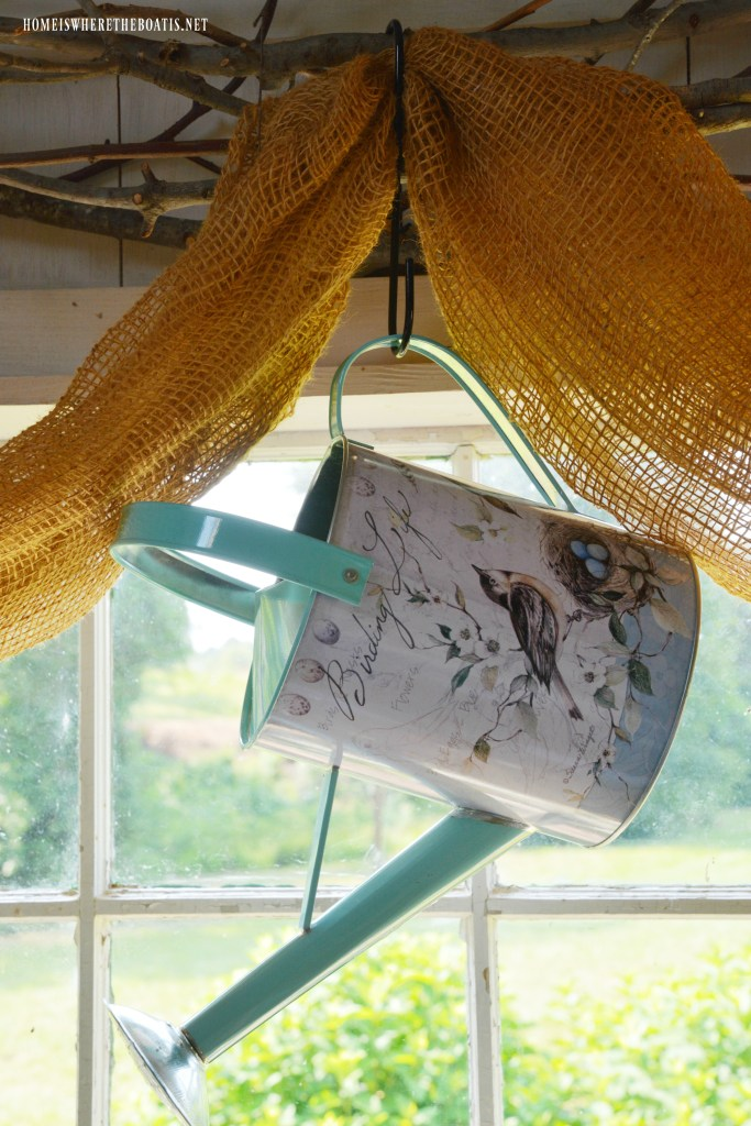 Birding Life Watering Can | ©homeiswheretheboatis.net #bird #nests #birdhouses
