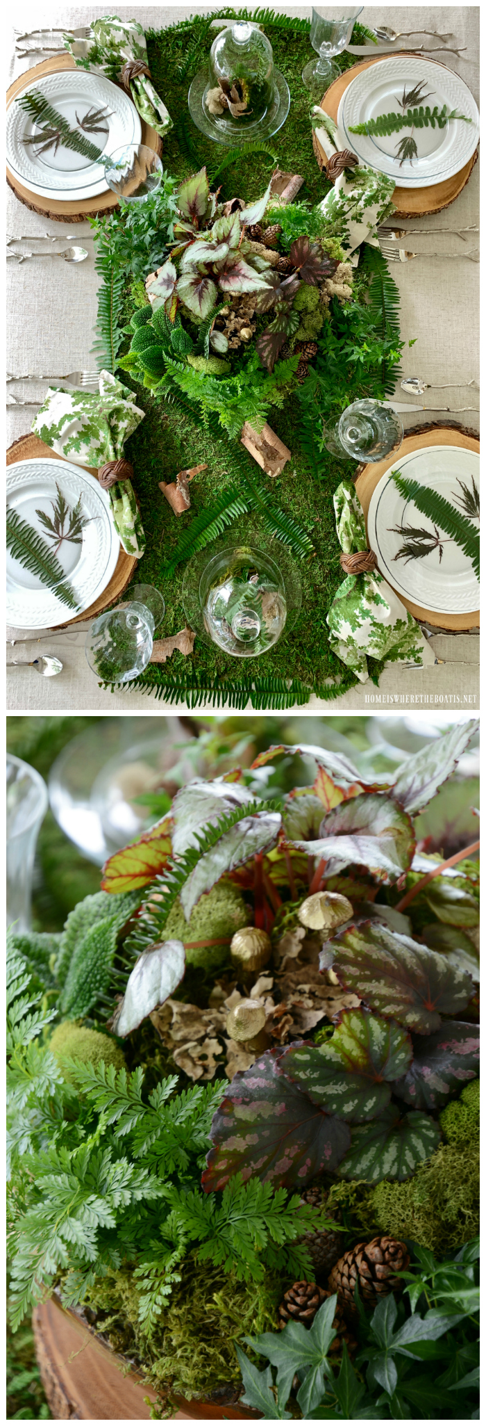 Woodland Table and Mossy DishGarden | ©homeiswheretheboatis.net