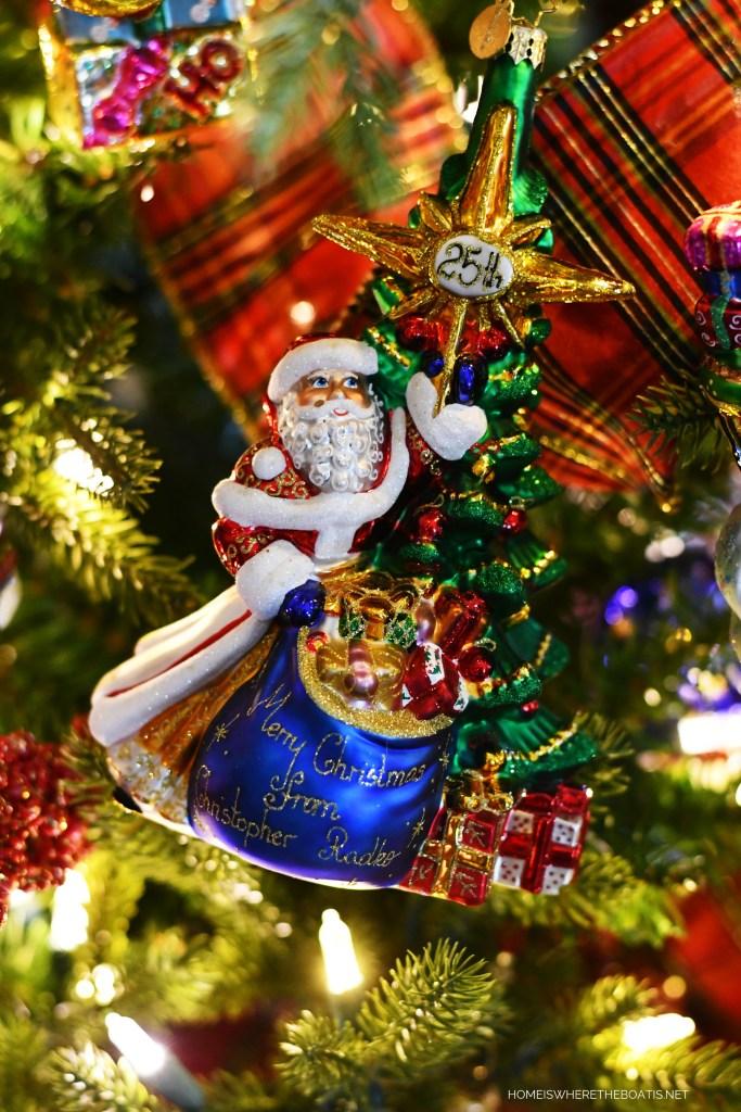 Santa Radko Christmas Ornament | ©homeiswheretheboatis.net #Christmas #tree