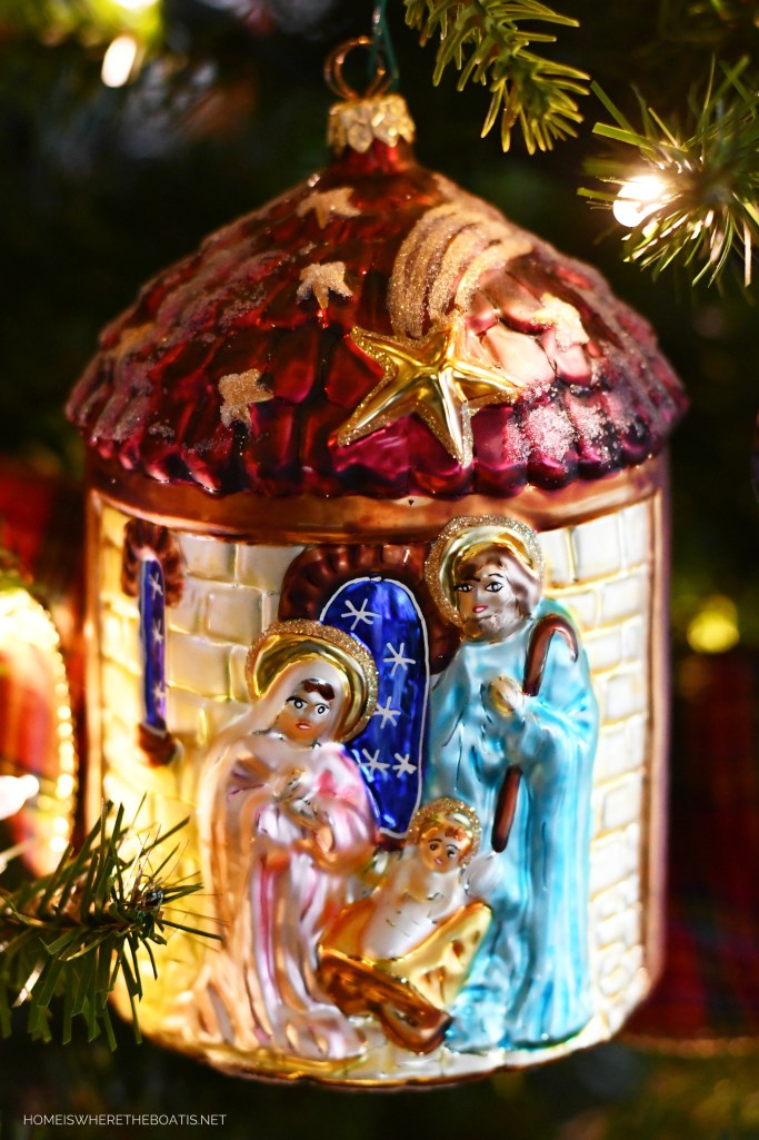 Nativity Christmas ornament | ©homeiswheretheboatis.net #christmas #ornaments #radko #tree